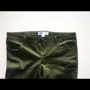 Army green Old Navy skinny jeans